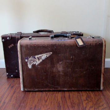 Vintage Samsonite Brown Suitcase | Rustic Old Luggage | Photo Prop Suitcase