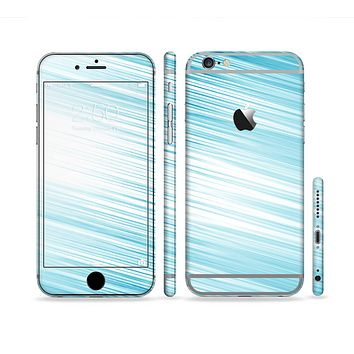 The Bright Diagonal Blue Streaks Sectioned Skin Series for the Apple iPhone 6 Plus