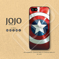 iPhone 5 Case, iPhone 5c Case, iPhone 4 Case, iPhone 5s Case, iPhone 4s Case, Captain America Shield, Phone Cases, Phone Covers - J079