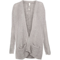 Pull & Bear Cardigan With Aran Knit Back