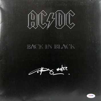 "Angus Young Signed Autographed ""Back in Black"" AC/DC Record Album (PSA/DNA COA)"