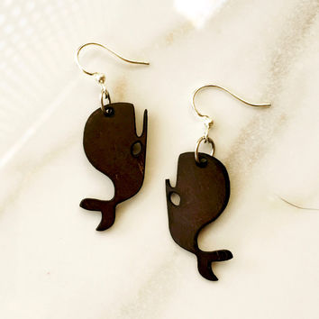 Coconut Whale Earrings