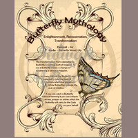BUTTERFLY MYTHOLOGY, Digital Download,  Book of Shadows Page, Grimoire, Scrapbook, Spells, Wiccan, Witchcraft,