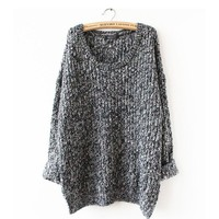 Women's Plus Size Sweater Spring and Autumn, Loose  Round Neck