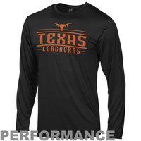 Texas Longhorns Victory Performance Long Sleeve T-Shirt - Black