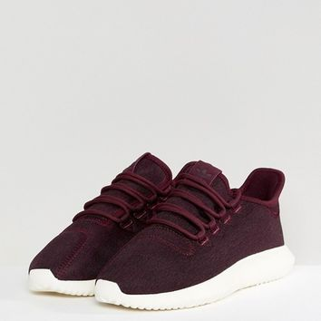 adidas Originals Tubular Shadow Trainers In Burgundy at asos.com