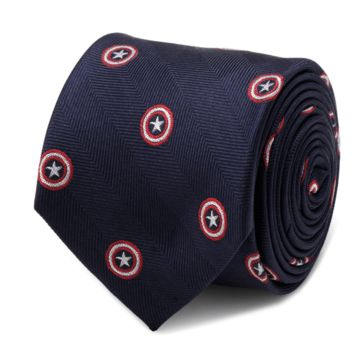 Captain America Navy Tie BY MARVEL