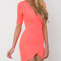 HIGHWAY REBEL BODYCON DRESS IN ORANGE