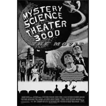 Mystery Science Theater 3000 Stk3K poster Metal Sign Wall Art 8in x 12in Black and White