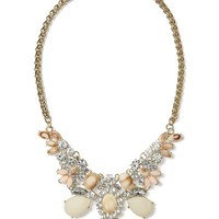 Peaches and Cream Statement Necklace