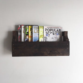 Handmade Pallet Rack, Wine, Magazine,  Rustic, Decor, Book Shelf, Reclaimed, Home, Office, Kitchen, Repurposed, Wood, Furniture, Brown