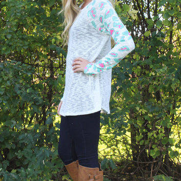 Mint Leopard Tunic Top