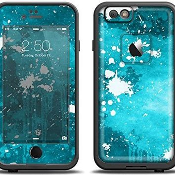 (LifeProof Case & Skin Bundle!)The Abstract Bleu Paint Splatter Apple iPhone 6 LifeProof Fre Case Skin Set (Black LifeProof Case Included)