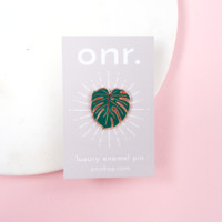 Monstera Leaf Luxury Enamel Pin