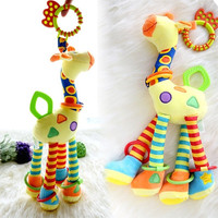 Kids Baby Infant Development Soft Animal Model Handbells Rattles Handle Toys  D_L = 1713098500