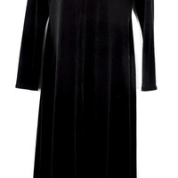 Rare White Stag Black Velvet Long Sleeve Maxi Dress Morticia S/M
