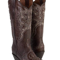 Round 'em Up Cowgirl Boots - Brown