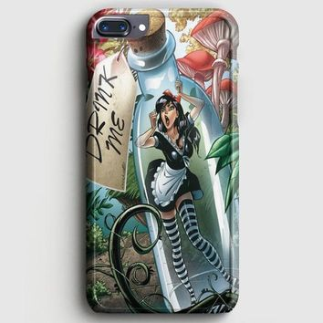 Alice In Wonderland And Tardis Doctor Who iPhone 7 Plus Case