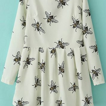 Sweet Honeybee A-line Dress