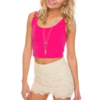 It's Britney Crop Top - Pink