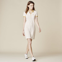 STRIPE PIQUE POLO DRESS