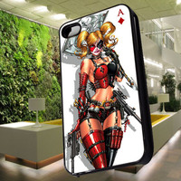 Harley Quinn Playing Card Case for iPhone 4,iPhone 4s,iPhone 5,iPhone 5s,iPhone 5c,Samsung Galaxy s2 / s3 / s4