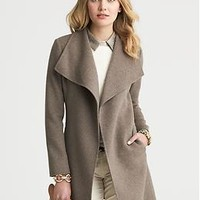Draped Wool Coat