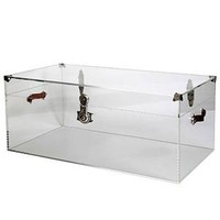 CLEAR LUCITE TRUNK / CHEST, Bench, STOOL, Table, Acrylic, HOLLYWOOD REGENCY!
