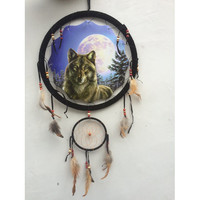 "13"" Wolf Dream Catcher 2"