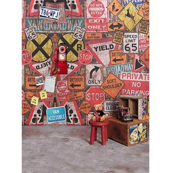 5X7FT Professional Vinyl Graffiti Photography Background Children Backdrops cloth Studio Photo Props 1.5mx2.1m