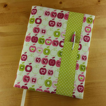 Pink Apple Print with Lime Dot ~ Composition Notebook Cover