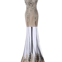 Prom dresses 2015 Long for Juniors with Crystal Beading, Black