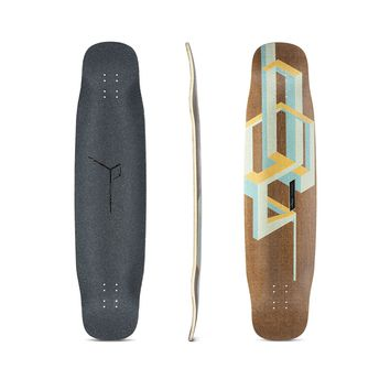 Loaded Basalt Tesseract Bamboo Longboard Deck - Mango