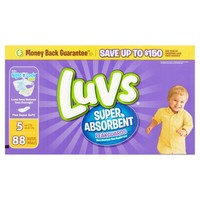Luvs Super Absorbent Leakguards Diapers, Size 5, 88 Diapers - Walmart.com