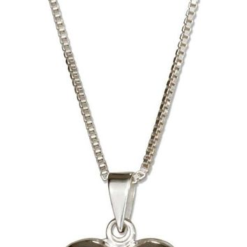 """Sterling Silver 18"""" Small High Polish Heart Locket Necklace"""