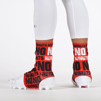 No Regrets Red Spats / Cleat Covers