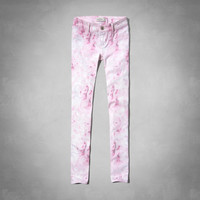 a&f hailey floral print jeggings