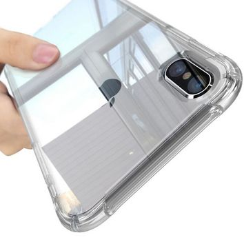 Transparent hard silicon Case for iPhone X XR 8 7 6S Plus iPhone XS MAX
