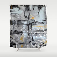 Nr. 610 Shower Curtain by Annabella Rharbaoui