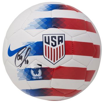 Christian Pulisic Signed 2018 Prestige Nike Team USA Nike Soccer Ball Panini