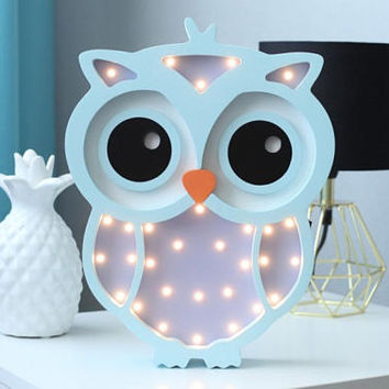 Owl Lamp Light Night Baby Room Nursery