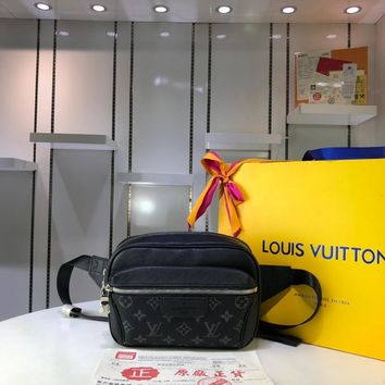 Kuyou Lv Louis Vuitton Gb29714 M30245 K45 Bags All Collections Black Outdoor Bumbag 21x17x5cm