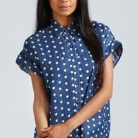 Betty Dark Denim Spot Shirt