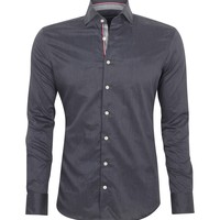 Charcoal Selvedge Shirt  | Hackett