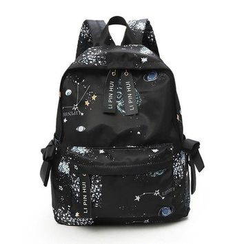 University College Backpack Casual Fashion Women Waterproof Nylon s Graffiti Student Bookbag  High School Daily  For Teenagers 8029AT_63_4