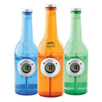 Water Powered Clock in Bottle Shape, Green No Batteries Required Just add water