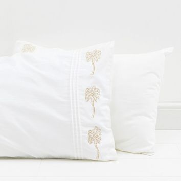 Elizabeth Scarlett Palm Tree Pillow Case Pair at asos.com