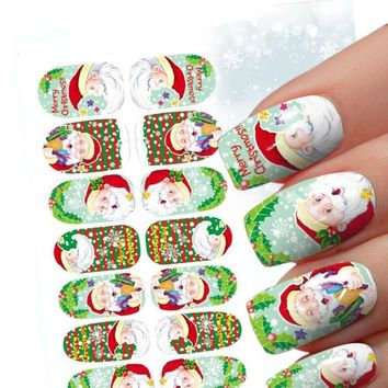 10 Kind of Styles Christmas 3D Nail Art Stickers Snowflakes Cute Snowmen Nail Decals