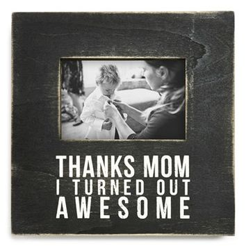 Primitives by Kathy 'Thanks Mom' Box Picture Frame - Black (4x6)