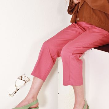 Rosy Pink Easy Pants / S M